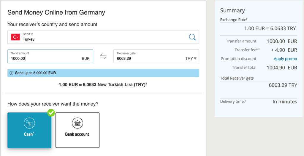 yurtdışından western unionla hızlı para gönderme