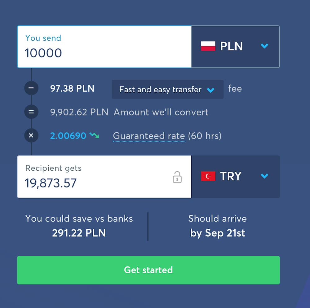 polonyadan türkiyeye para transferi ücretleri